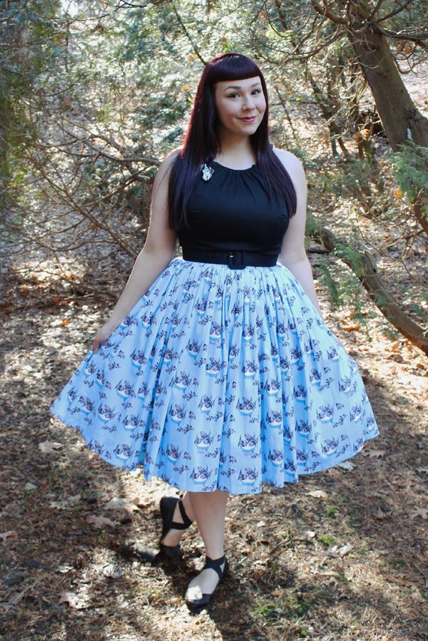 pinup girl clothing mary blair cat skirt