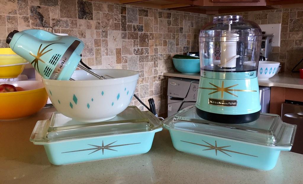 Great Pyrex Diamond Bowl U0026 Starbursts, U0026 KitchenAid Mixer U0026 Chopu2026 | Flickr