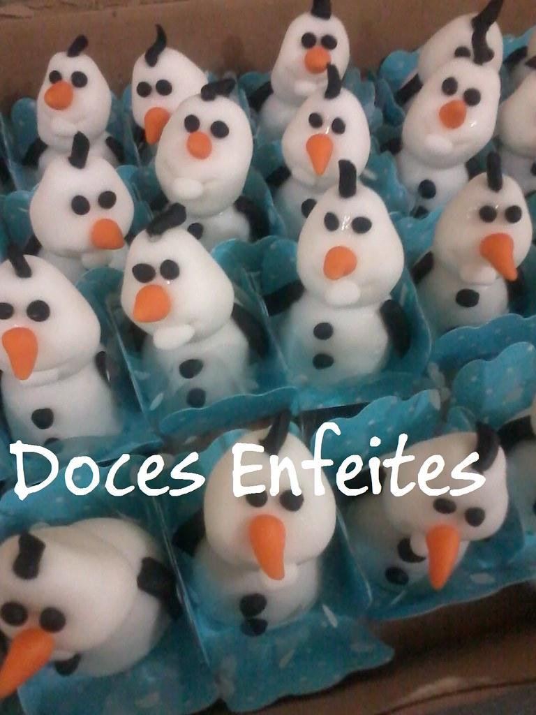 Festa Frozen (doces modelados Olaf) | Encomendas e orçamento ...