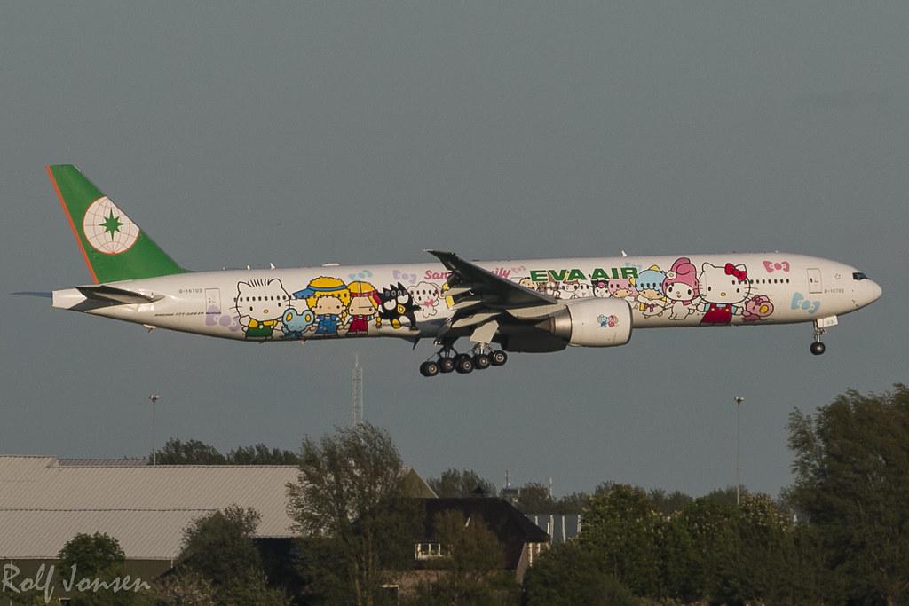 Eva Air Schiphol 777-300er Eva Air Schiphol