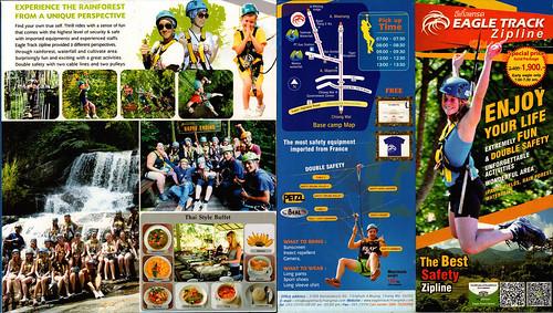 Brochure Eagle Track Zipline Chiang Mai Thailand 1