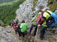 Kurzer Klettersteig am Valparola Pass