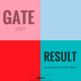 GATE Result 2017 - Check Result, Rank, Scorecard, Cut Off