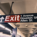 Subway Exit Sign - 1st Ave and Houston St
