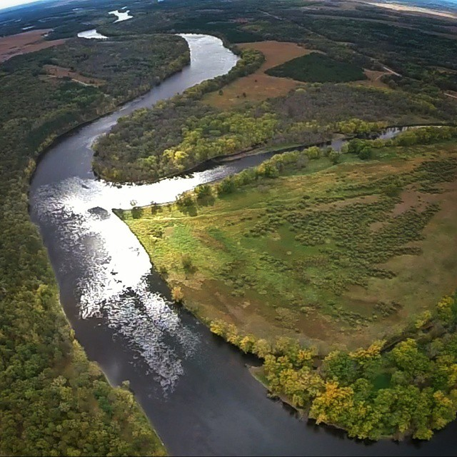 The Mighty Mississippi starts just a few miles upstream from here in northern Minnesota. There are thousands of tributaries just like the Crow River that joins its journey south until it drains into the Gulf of Mexico. The confluence of these two rivers a