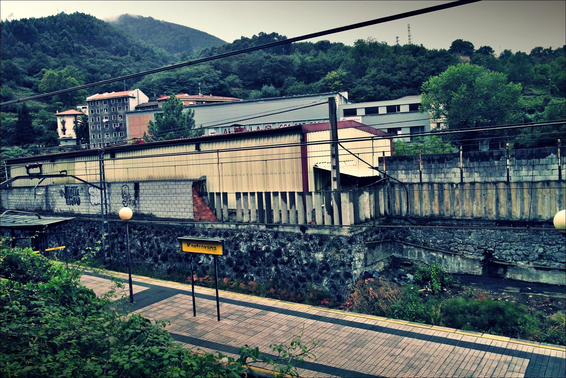 기차역-'카미노 데 산티아고 북쪽길. 빌바오에서 포르투갈레테. (Camino del Norte - Bilbao to Portugalete)'
