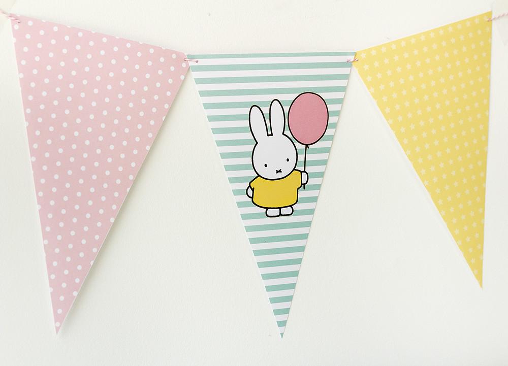 Imprimible gratuito Miffy