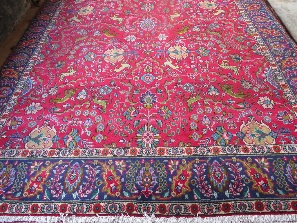 Tabriz Hunting Persian Rug 10x13 Carpetbeggers Persian