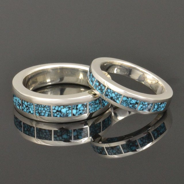 turquoise his and hers wedding ring set flickr photo With turquoise wedding ring sets