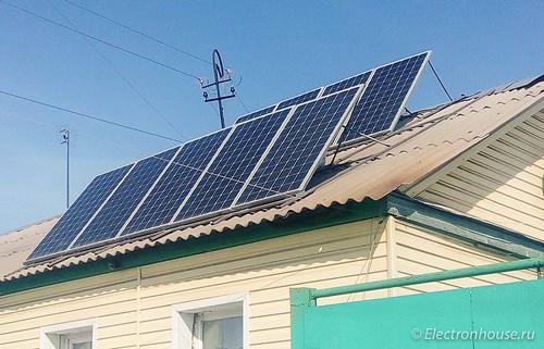 Солнечная электростанция для дома. Бюджетное решение.