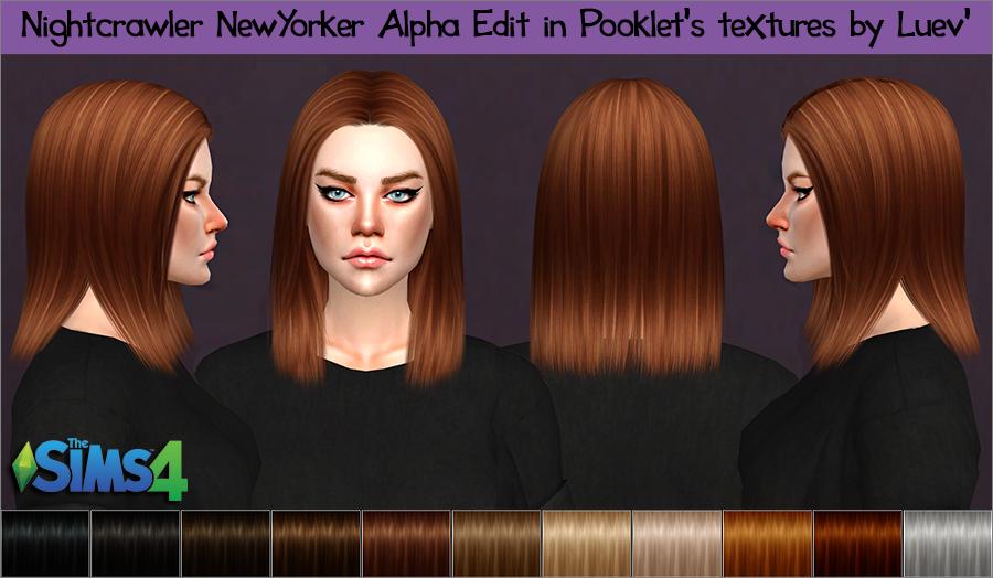 Mertiuza Ts4 Nightcrawler Newyorker Hair Alpha Edit