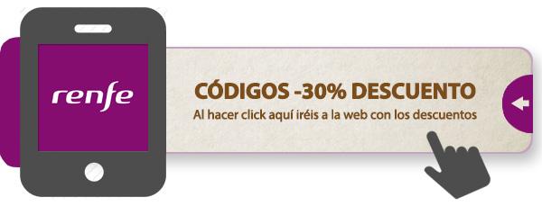 Acceso a una web que te proporciona códigos de descuento para poder ir más barato en AVE