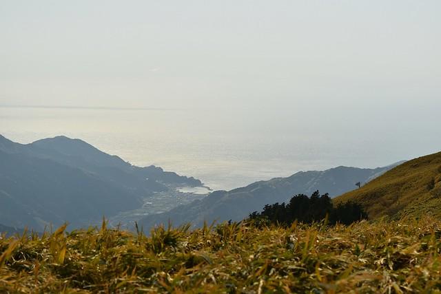 仁科峠展望台からの海の展望