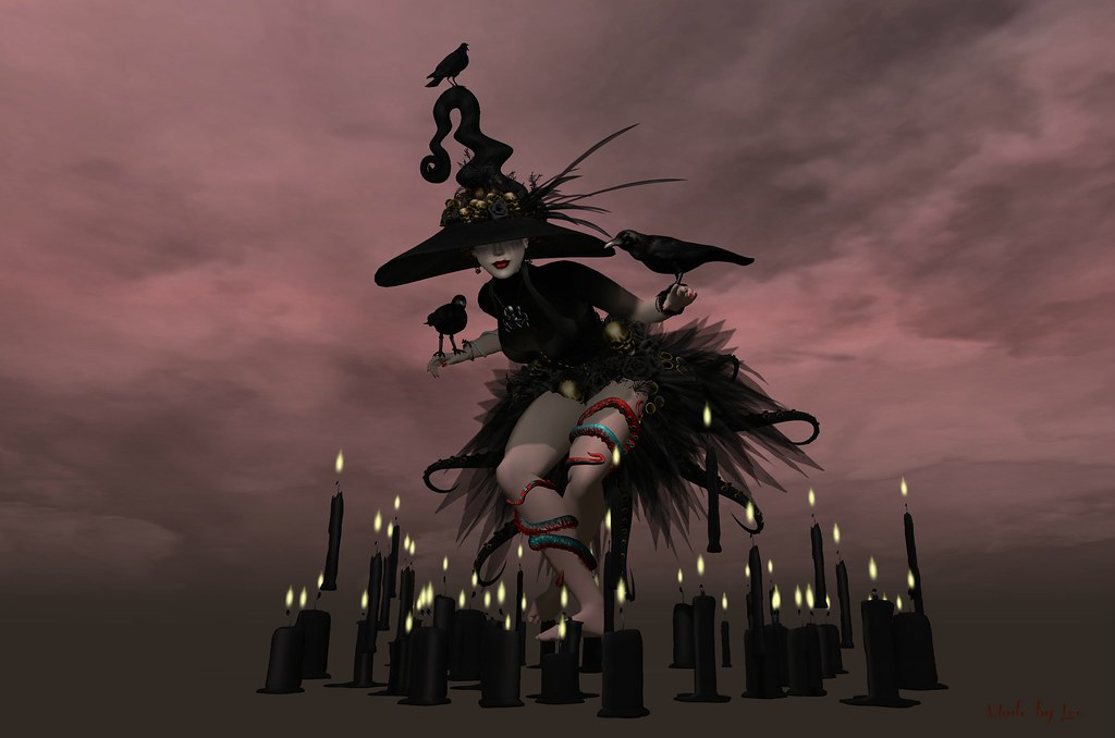 Witch dance | cropped, unedited Dress, hat and candles ...