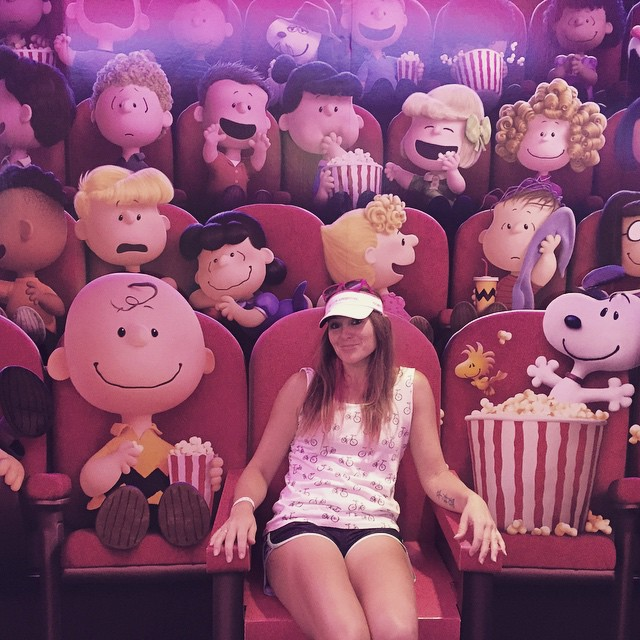 Oh you know, just hanging out with Charlie Brown and Snoopy and the gang. #peanutspals #peanutsmovie #triouradventure