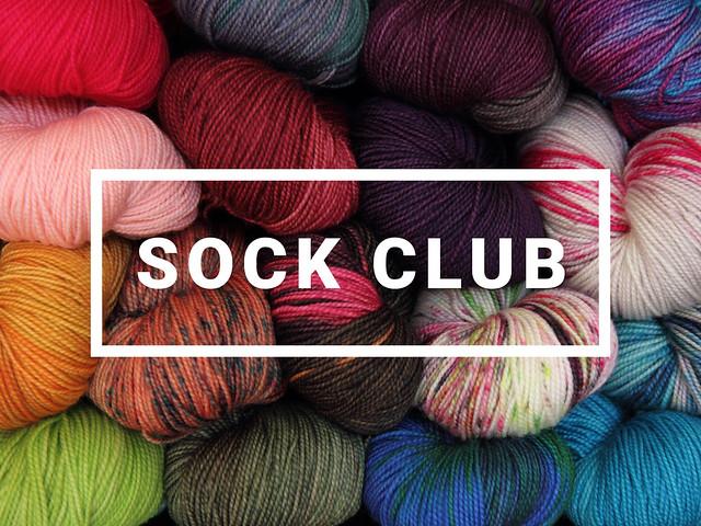 Favourite Sock superwash merino yarn club – 3 months starting December 2017