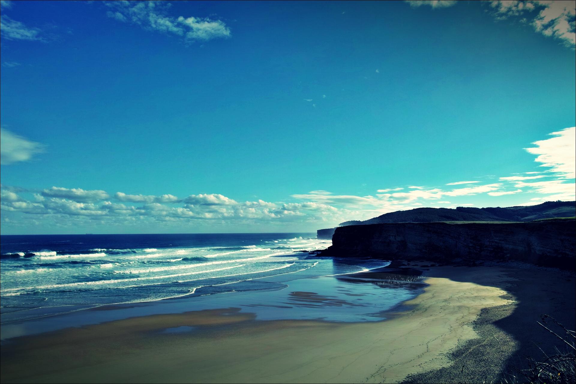 바다-'카미노 데 산티아고 북쪽길. 궤메스에서 산탄데르. (Camino del Norte - Güemes to Santander)'