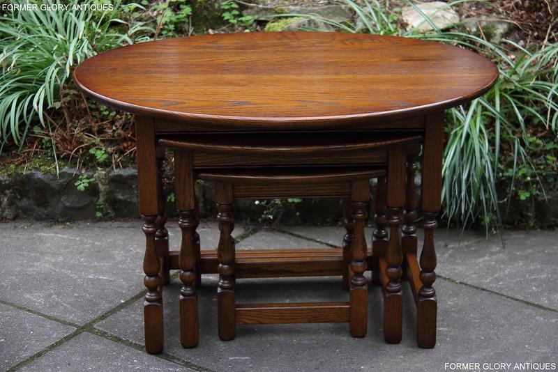 old charm light oak nest of tables armchair coffee side. Black Bedroom Furniture Sets. Home Design Ideas