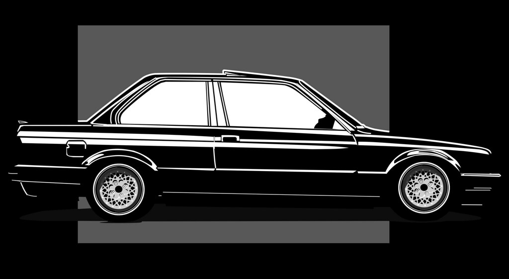 bmw e30 touring silhouette - photo #1