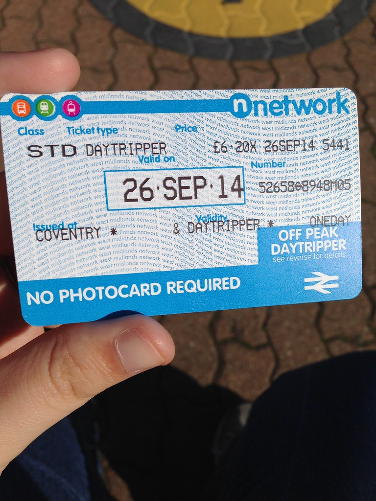 N Network Daytripper Issued At Coventry Railway Station