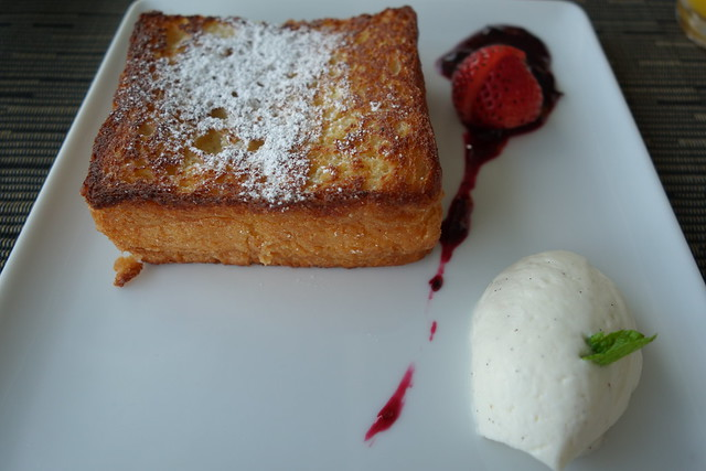 French Toast, Wild Berry Compote & Vanilla Whipped Cream - Sky on 57