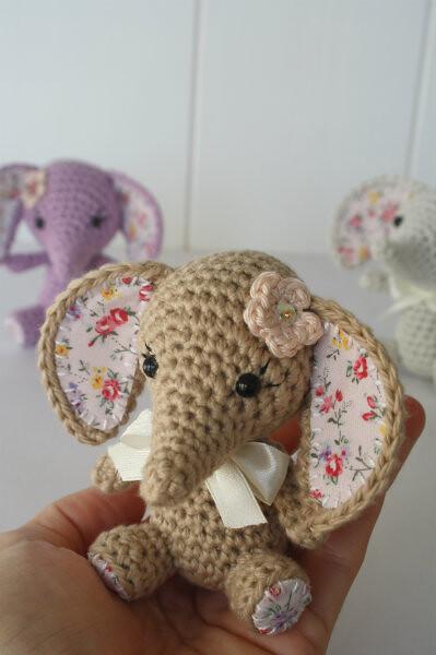 Crochet Amigurumi Elephant Ears : Tiny luck elephant - amigurumi pattern Pattern available ...