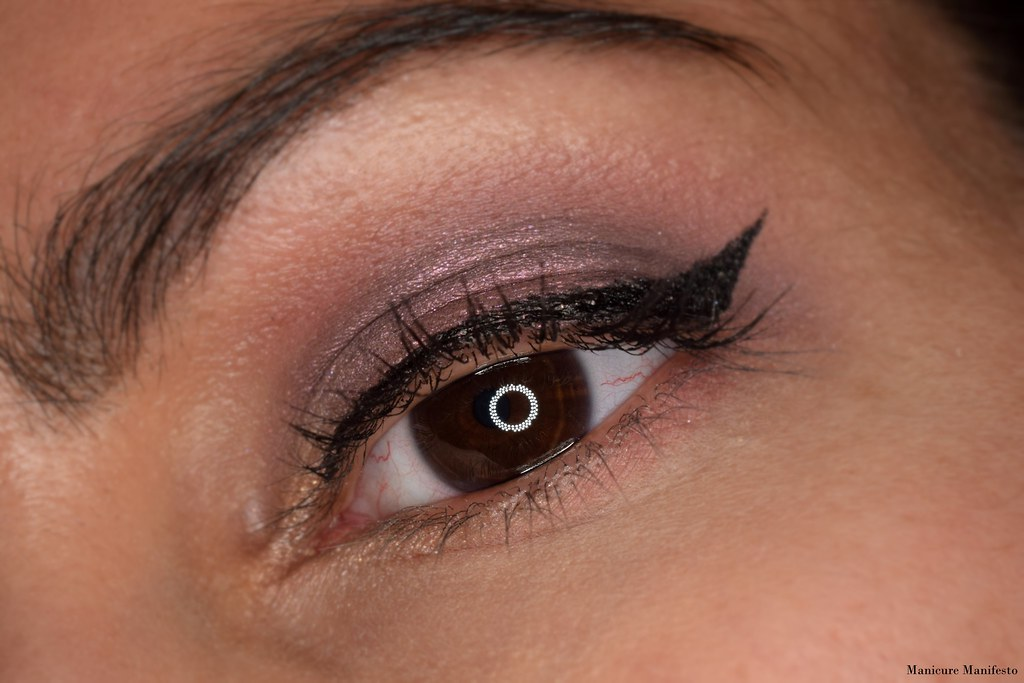 Metallic purple eyeshadow