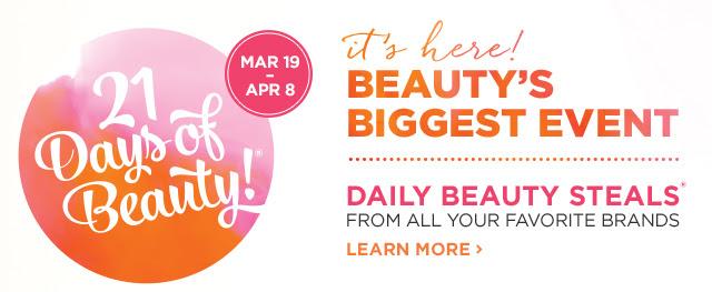 Ulta Beauty 21 Days of Beauty Event Spring 2017