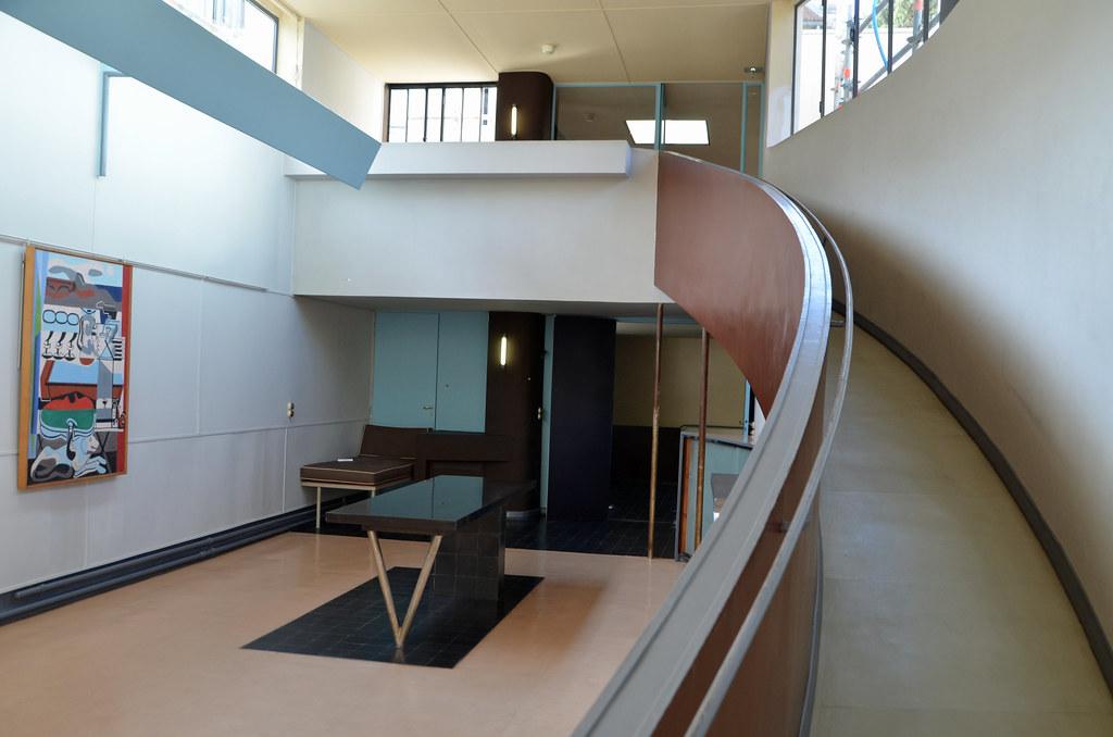 ramp from the salon villa la roche fondation le corbusi flickr. Black Bedroom Furniture Sets. Home Design Ideas