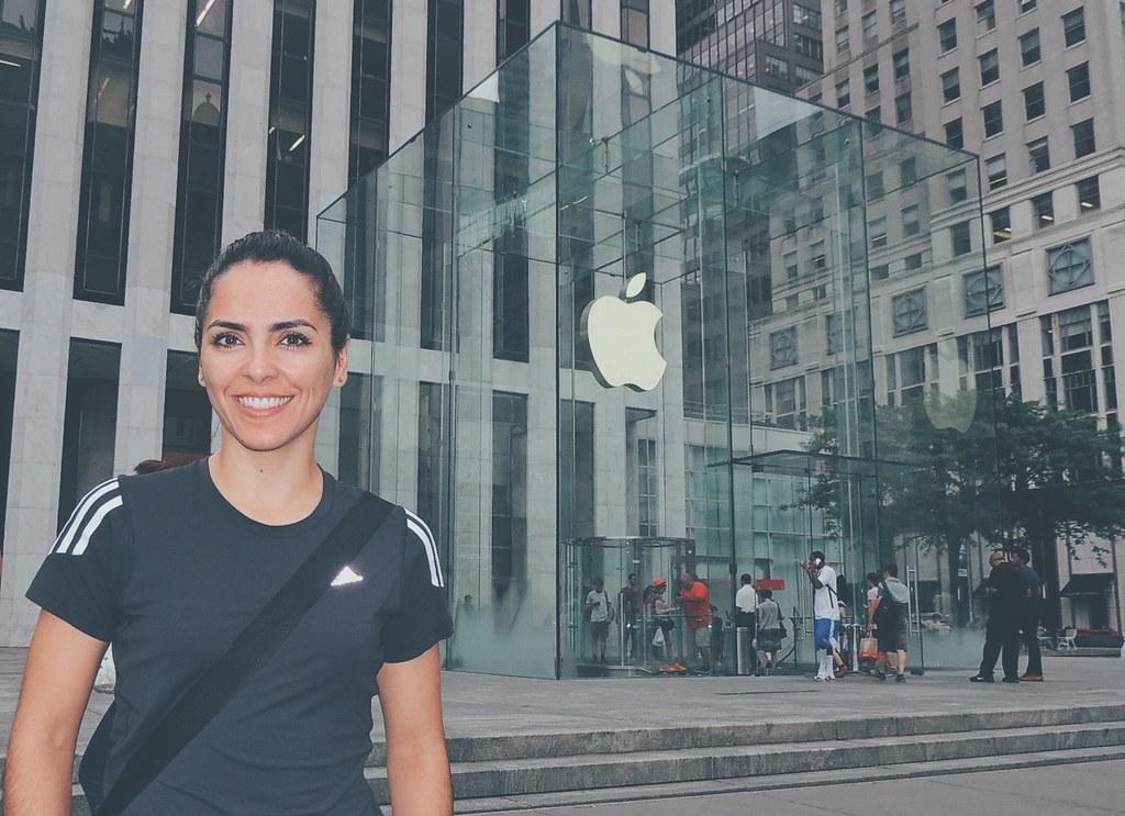 Loja da Apple na Quinta Avenida.