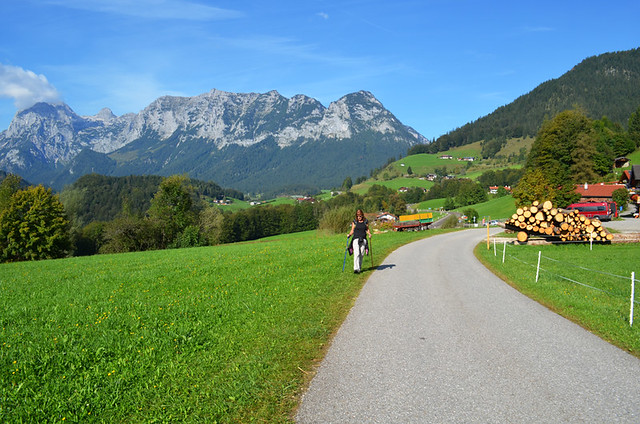 Walking in Berchtsgaden, Germany