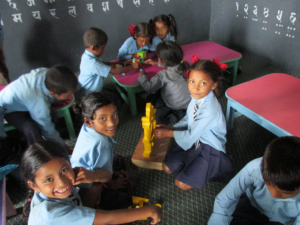Toys For Grade 1 : Grade children enjyoing plying with toys in anandadevi p