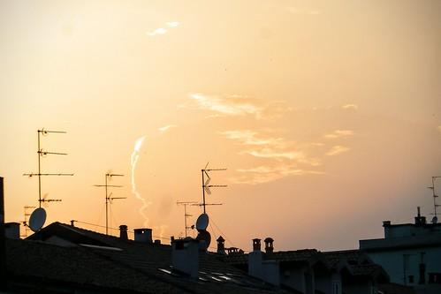 Il cielo caldo di #Milano di #Luglio