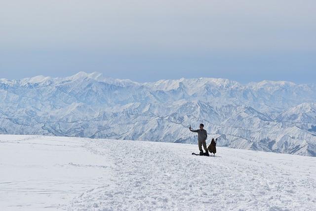 守門岳から望む冬の越後三山