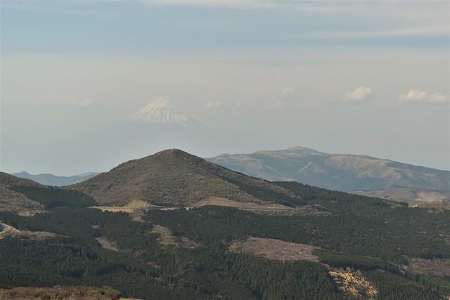 仁科峠展望台からの達磨山と富士山