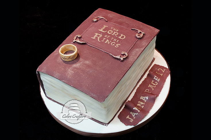 lord of the rings book cake cakes crafters flickr. Black Bedroom Furniture Sets. Home Design Ideas