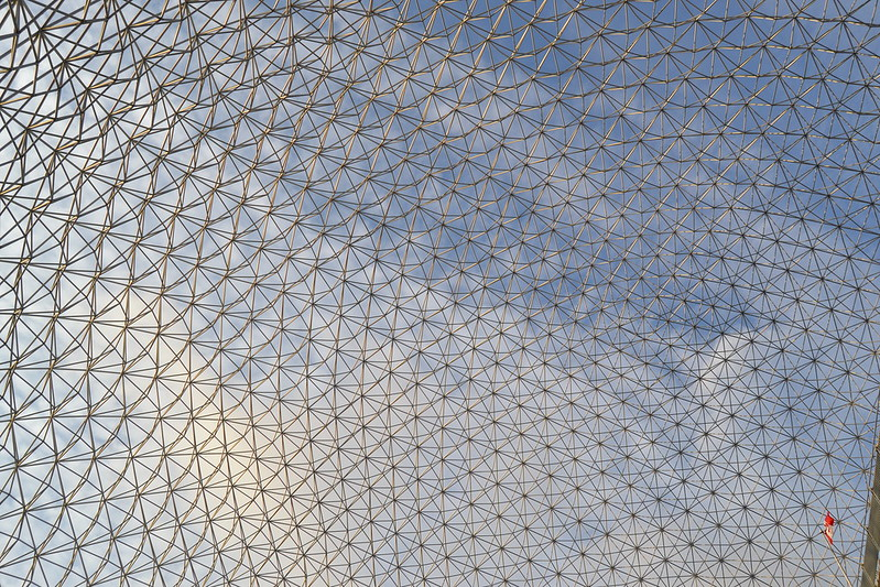 Pohľad na konštrukciu Biosphere