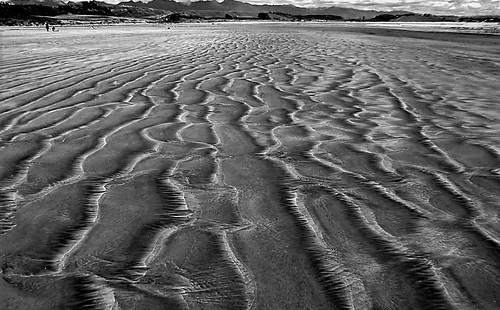 Sand patterns.