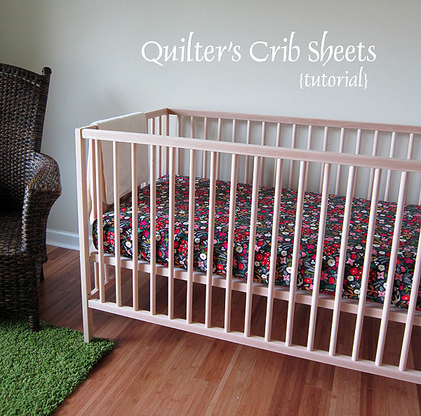 Quilter S Crib Sheet Tutorial Www Stitchedincolor Com
