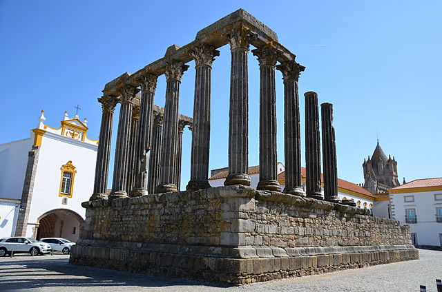Roman Temple, Evora, Portugal