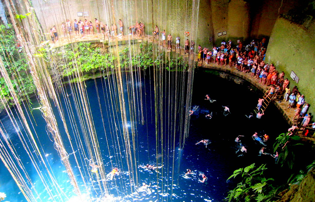 Ik Kil Sacred Blue Cenote Cancun Mexico Travis Wise