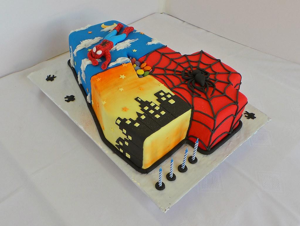 Number  Superhero Cake