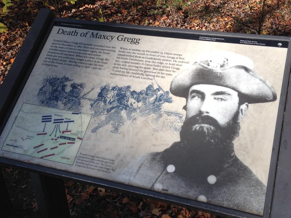 The Death Of Maxcy Gregg At Fredericksburg Battlefield
