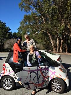 TechWomen Seham Al-Jaafreh, Mai Temraz, Katy Dickinson, San Bruno Park, California, October 2014