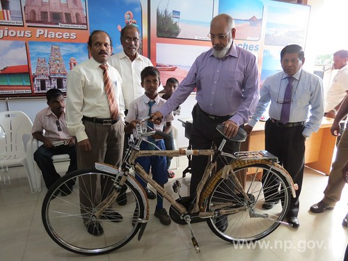 Distribution of bicycles and sewing machines to the vulnerable families – 29 October 2014