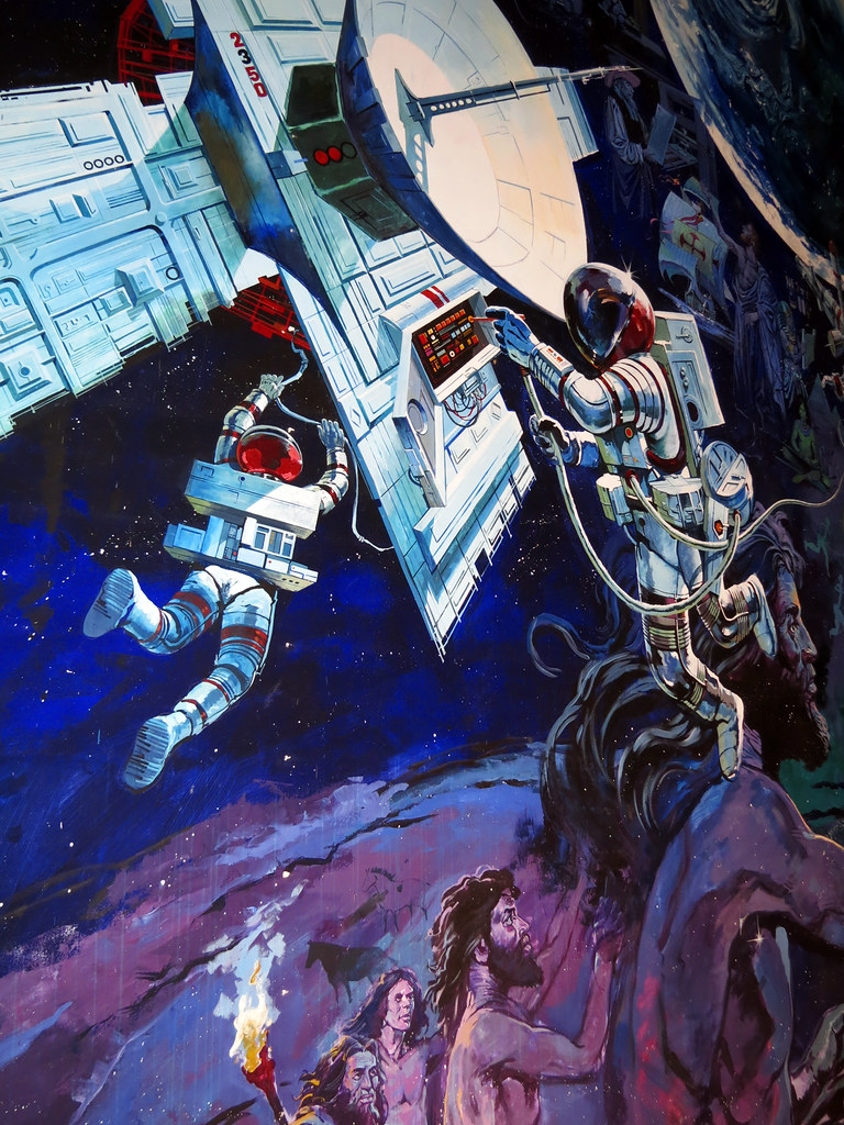 Spaceship earth mural images for Earthrise mural