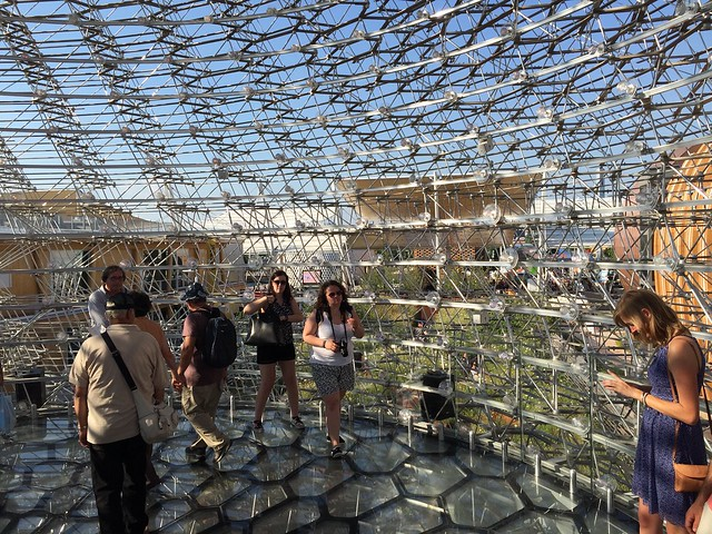UK pavilion, hive internal