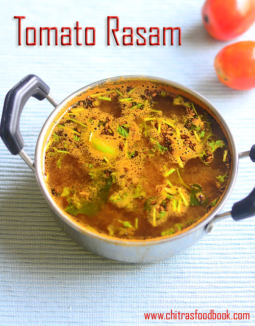 Tomato rasam without dal