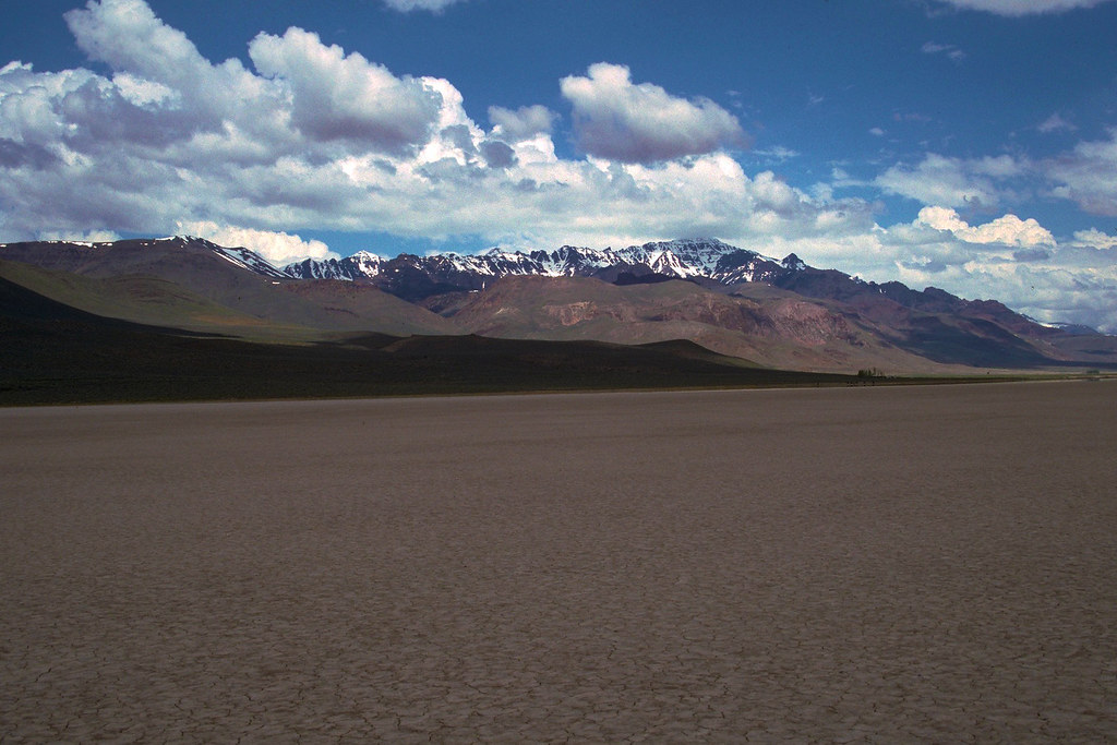 Alvord Desert While Steens Mountain Looms To The West