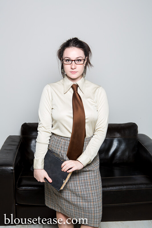 Reading Time - Blouse Tease  From The Hd Film And Hi Res -4211